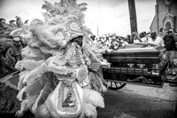 Jazz Funeral of LARRY BANNOCK, Big Chief of the Golden Star Hunters Mardi Gras Indians.
